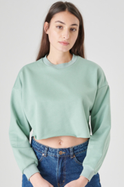 Cropped trui turquoise, 24 Colours