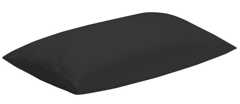 Kussensloop Zwart Tencel