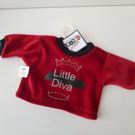 45 cm velours shirt Little Diva