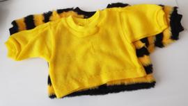 Black yellow shirt & wool  jacket