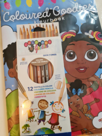 Coloring book with Skintone pencils