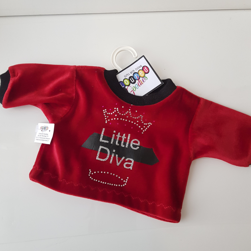 45 cm velours shirt Little Diva