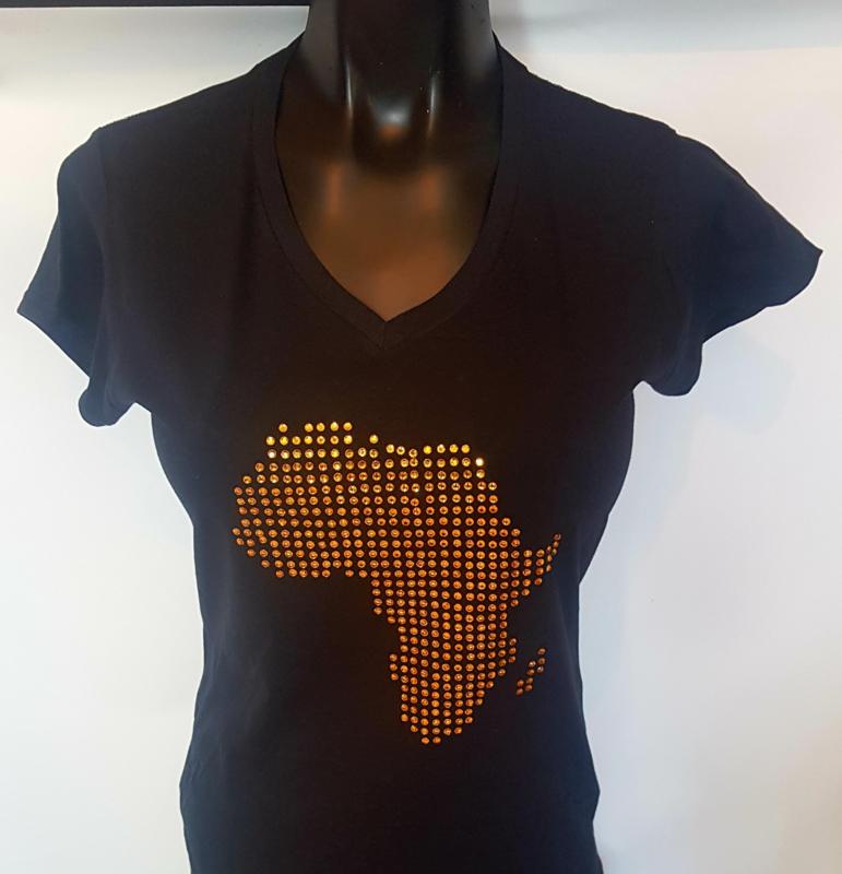 AFRICA map Rhinestone