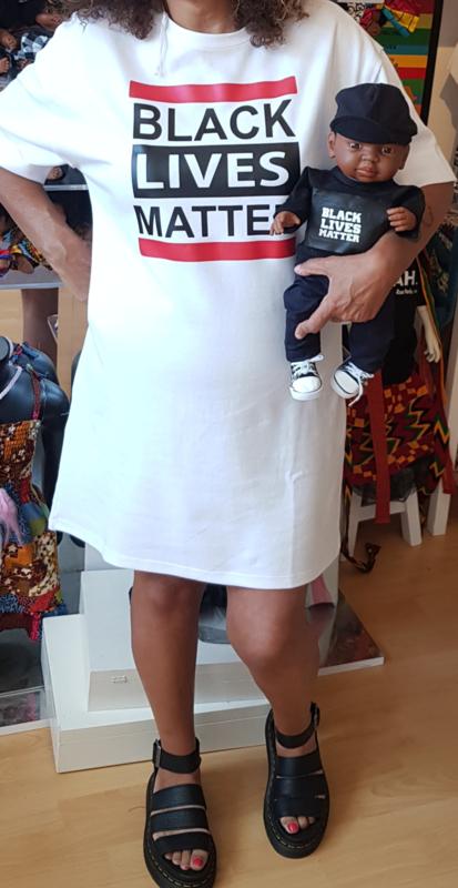 T shirt Jurk Black Lives Matter Wit