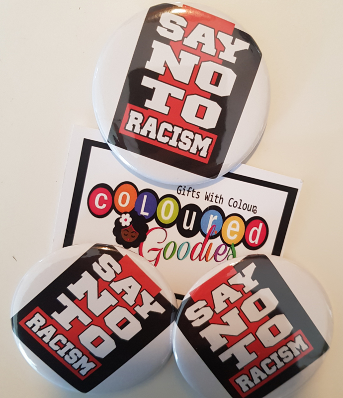 Say No To Racism Button