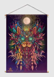 Cat Spirit Textiel Poster