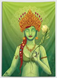 Green tara Wandtapijt