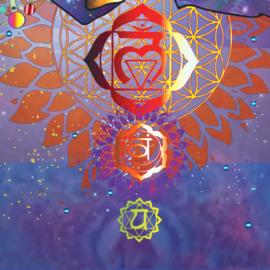 Meditatie zon blauw