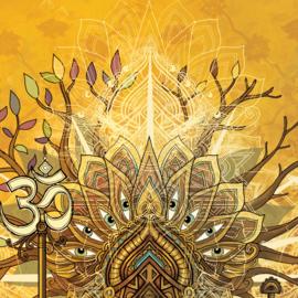 From Samsara to Nirvana Textielposter