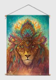 Lion spirit Textielposter