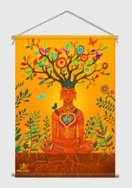 Meditation Textielposter