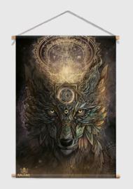 Wolf spirit Textielposter