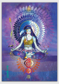 Meditation blue sun