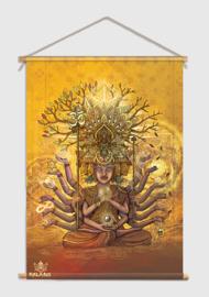 From samsara to nirvana Textile poster