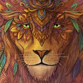 Lion spirit Wandtapijt
