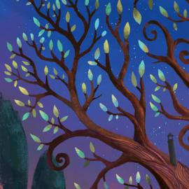 Treehouse Textielposter