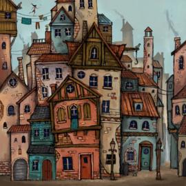 Fantasy City Ansichtkaart