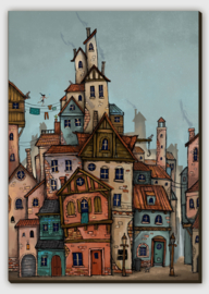 Fantasy City Canvas Print