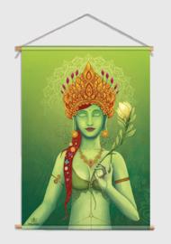 Green tara Textile poster