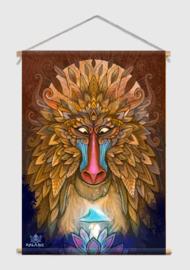 Monkey Spirit Textiel Poster