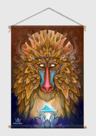 Monkey Spirit Textile Poster