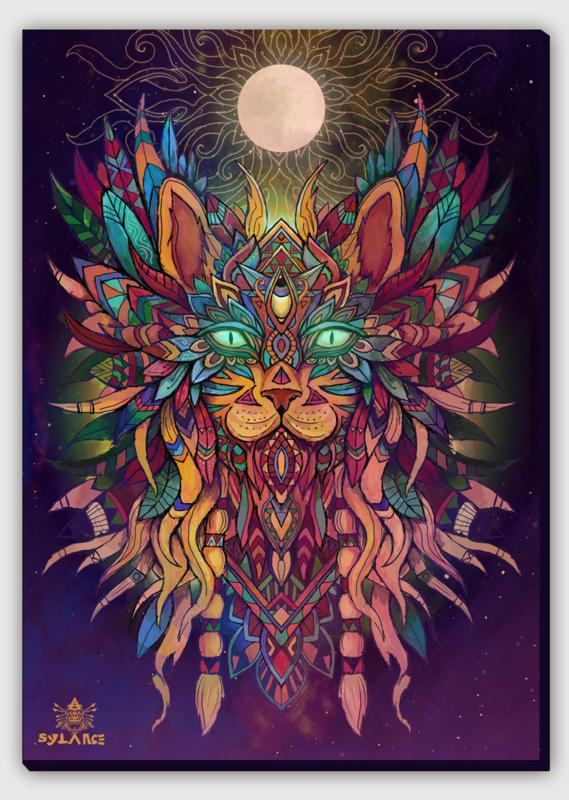Cat Spirit Canvas Print