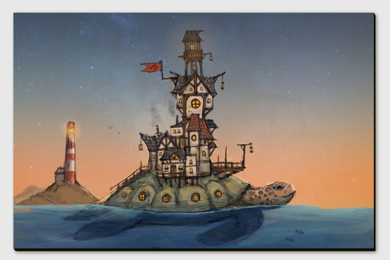 Turtle City Canvas Print