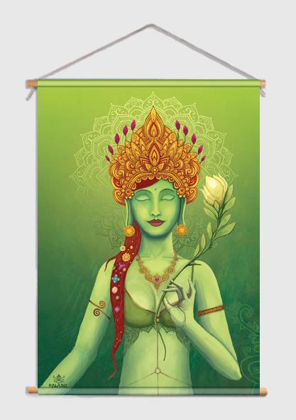 Green Tara Textielposter