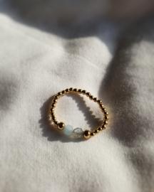 Mariel      - aquamarijn labradoriet ring