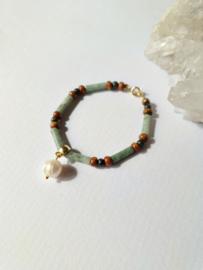 Maisa                -  parel en jade armband