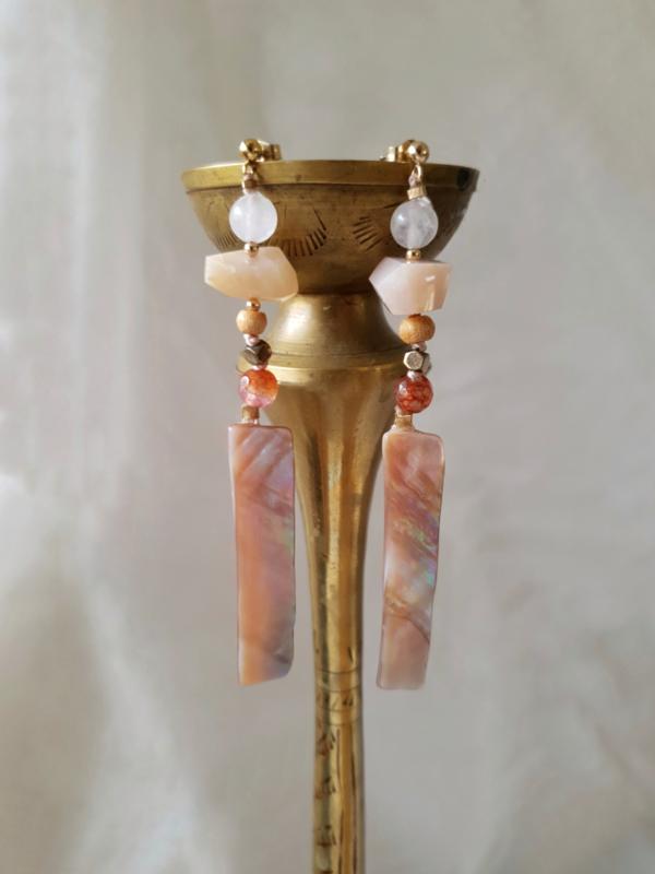 Dhia goldfilled oorbellen