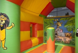 Springkussen Midi Multifun Jungle huren