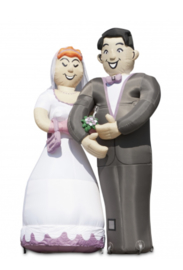 Opblaasbaar Bruidspaar huren