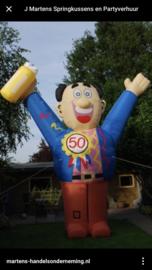 Abraham pop feest 4,5 meter huren