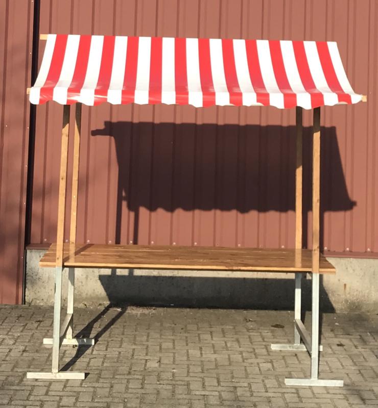 Marktkraam wit/rood 2,1 meter huren