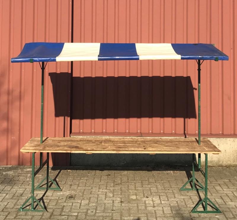 Marktkraam blauw 2,5 meter huren