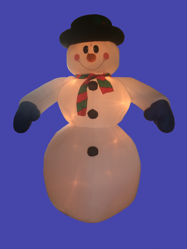 Opblaas Sneeuwpop 2,4 m.