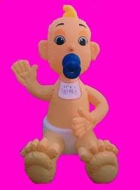 It's a boy / girl geboorte opblaas baby pop. 3 m