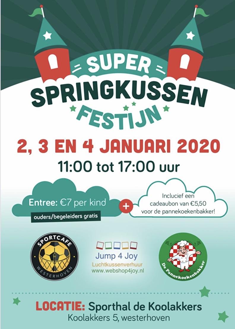 Indoor Springkussen Festijn tijdens de Kerstvakantie in Westerhoven