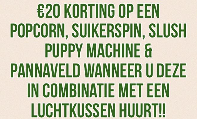 €20 Korting bij Combi Deal van Springkussen en een Machine