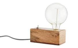 Madam Stoltz tafellamp houten blok