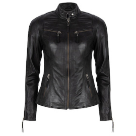 Chabo - Super fost leather jacket ZWART