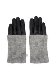 Zusss stoere handschoenen zwart/mistkleurig