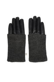 Zusss stoere handschoenen zwart/grafietgrijs