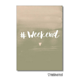 "MIEKinvorm A4 poster""#weekend"""
