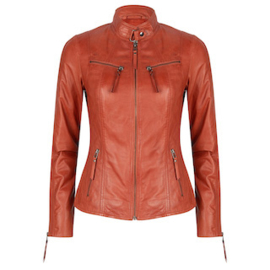 Chabo - super soft leather jacket RUST