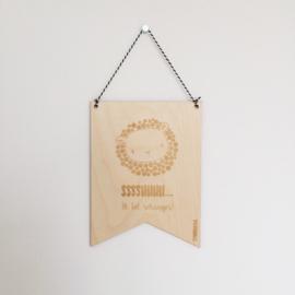MIEKinvorm houten vaandeltje