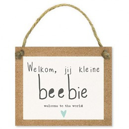 Kadokaartjes Tell it - Welkom, jij kleine beebie welcome to the world