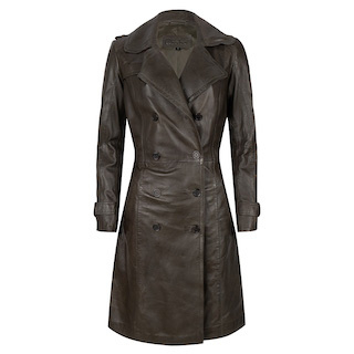 Chabo - Leather trenchcoat Fabiënne  OLIJF