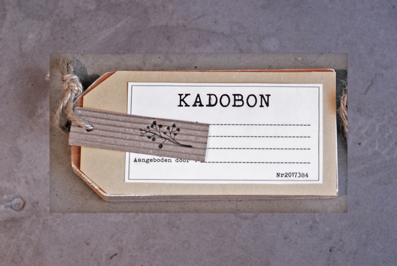 Kadobon € 25,--